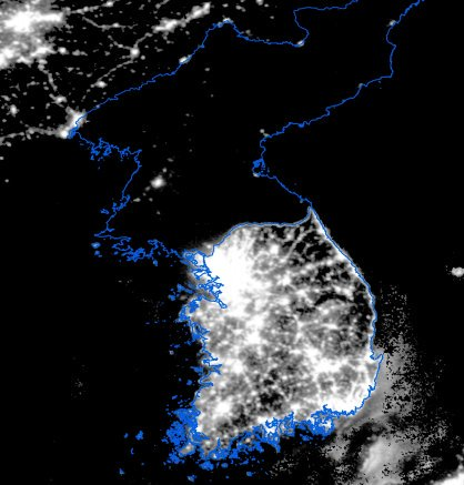 north-korea-lights