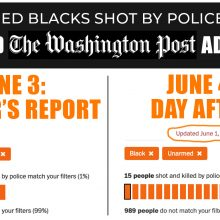 Data Manipulated by Washington Post of Unarmed Blacks Shot by Police