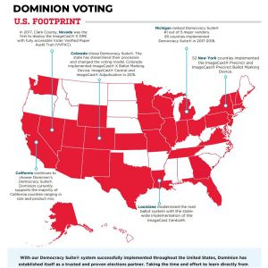 "Dominion Voting System That ""Glitched"" For Biden Used Throughout Battleground States"